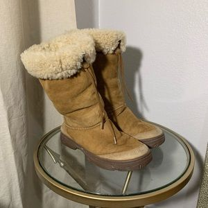 UGG Sherpa Suede Chestnut Boots 5250 Ultimate Tall